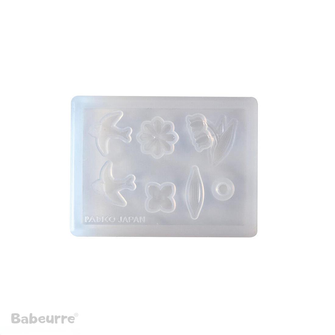 Padico mallen Soft Mold Flower Cabochon