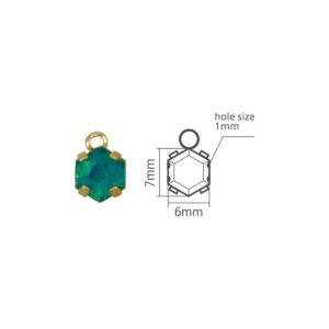 Setting for Jewel Mold mini Hexagon A