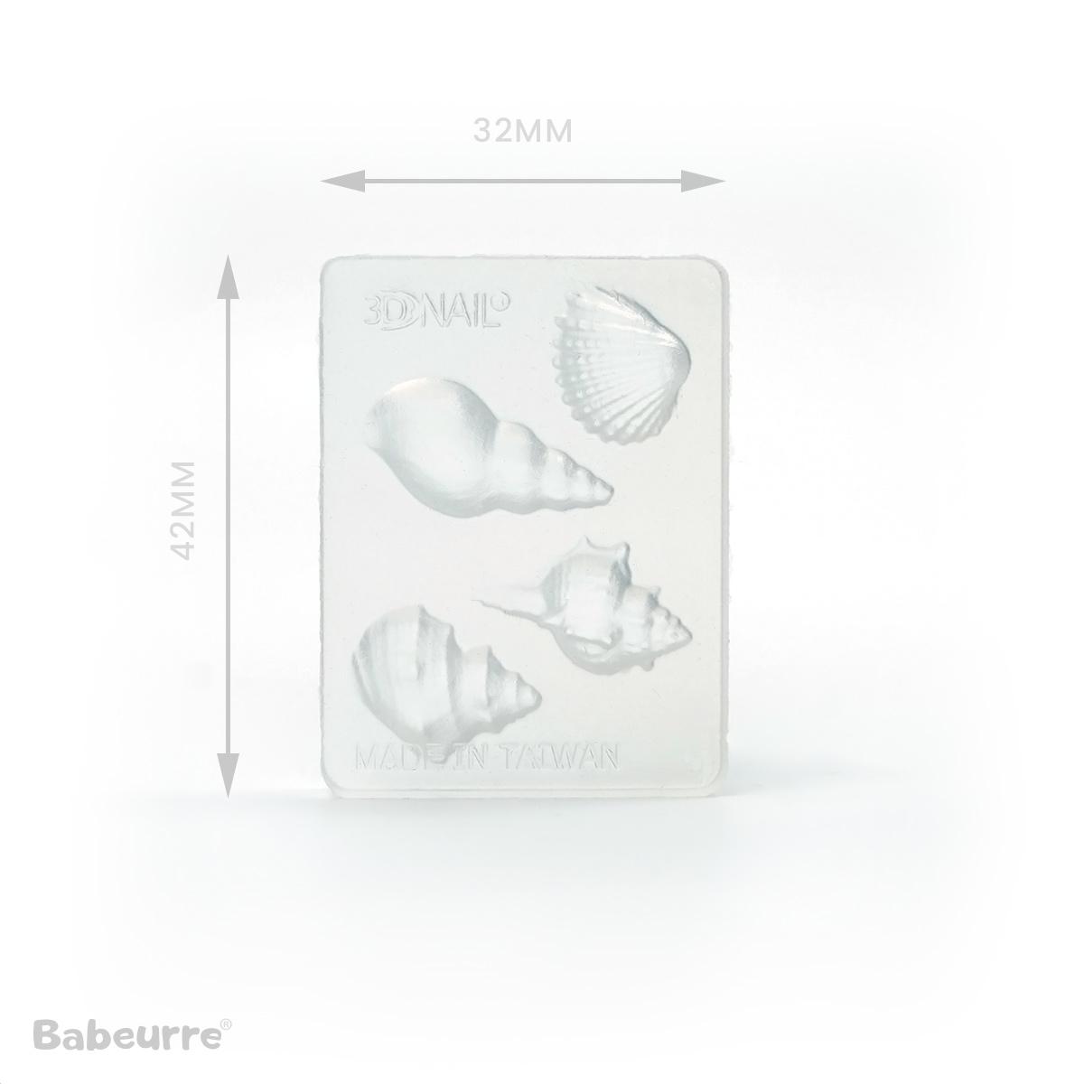 Shimei mallen Soft Mold Schelpen Shell