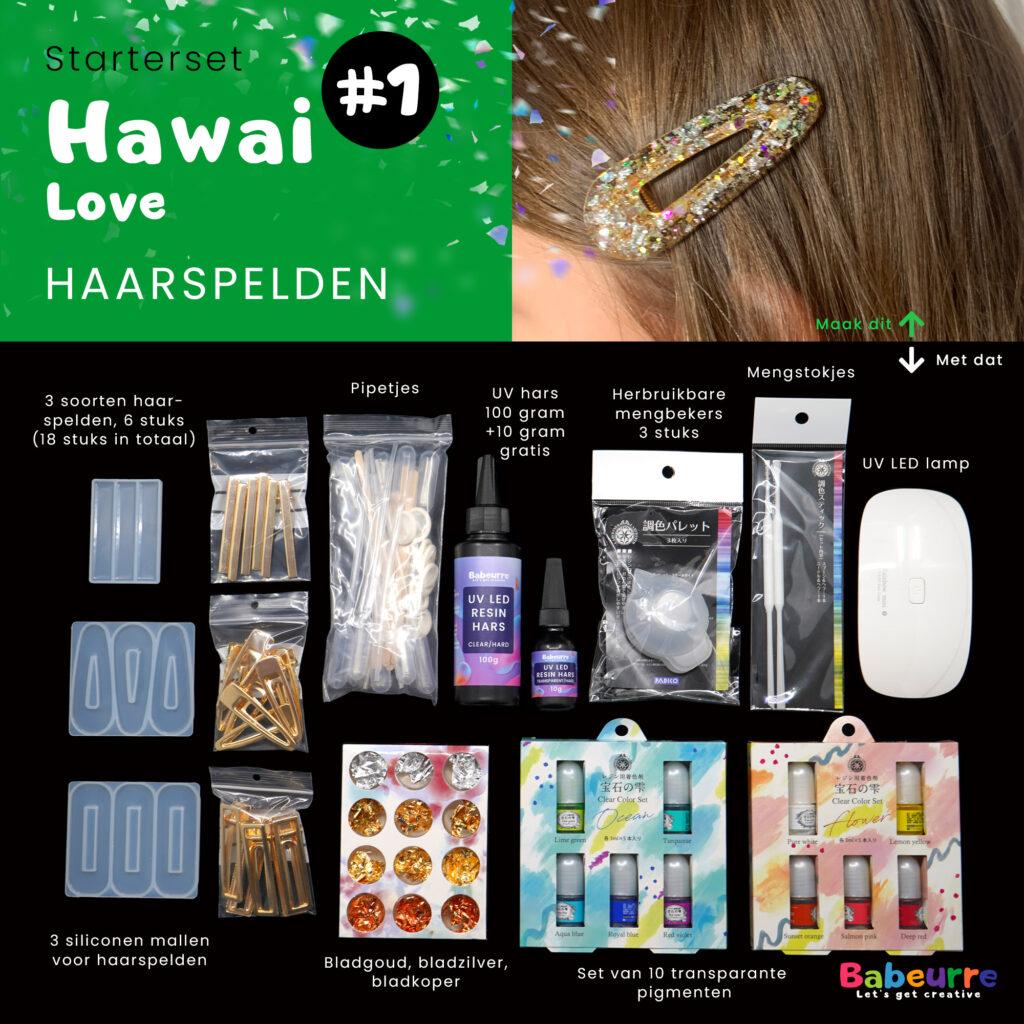Babeurre Starterset Hawai Love Haarspelden