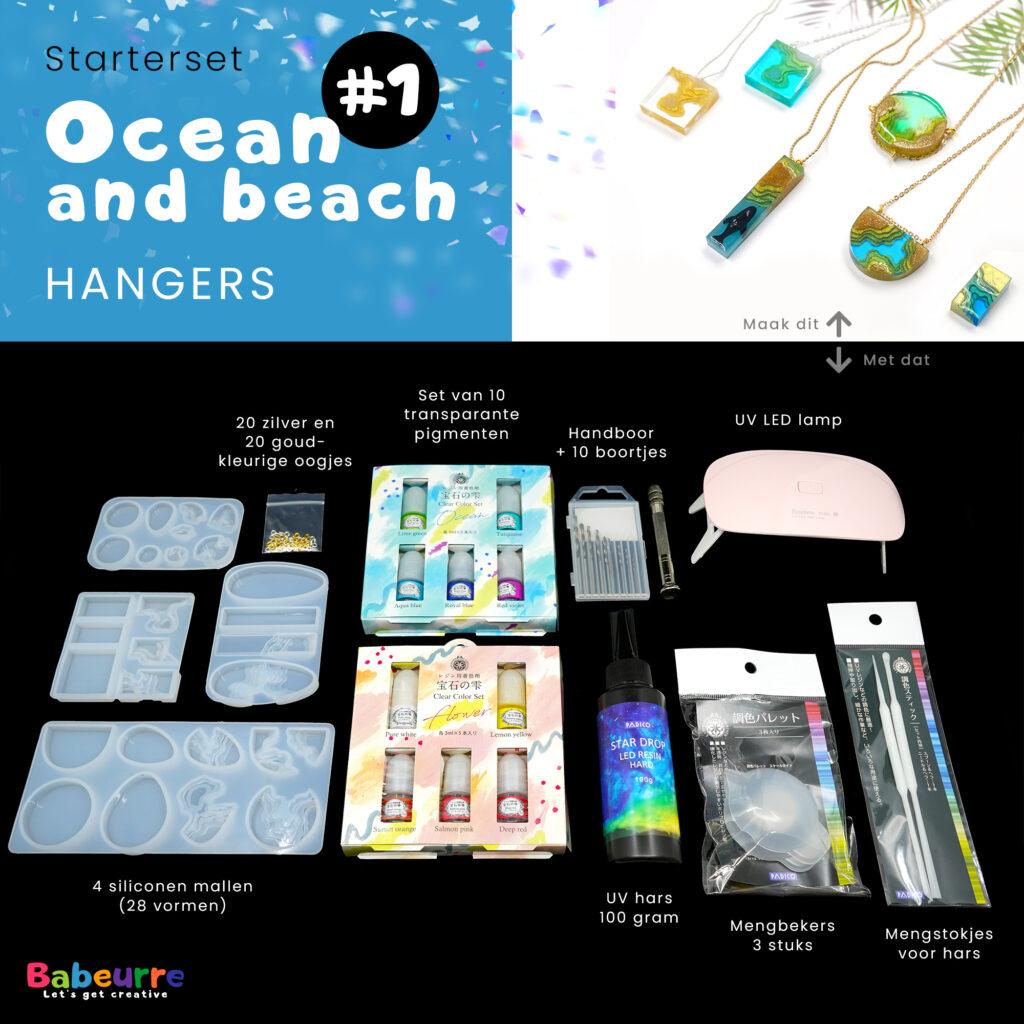 Starterset - Ocean and beach - Hangers - Versie #1