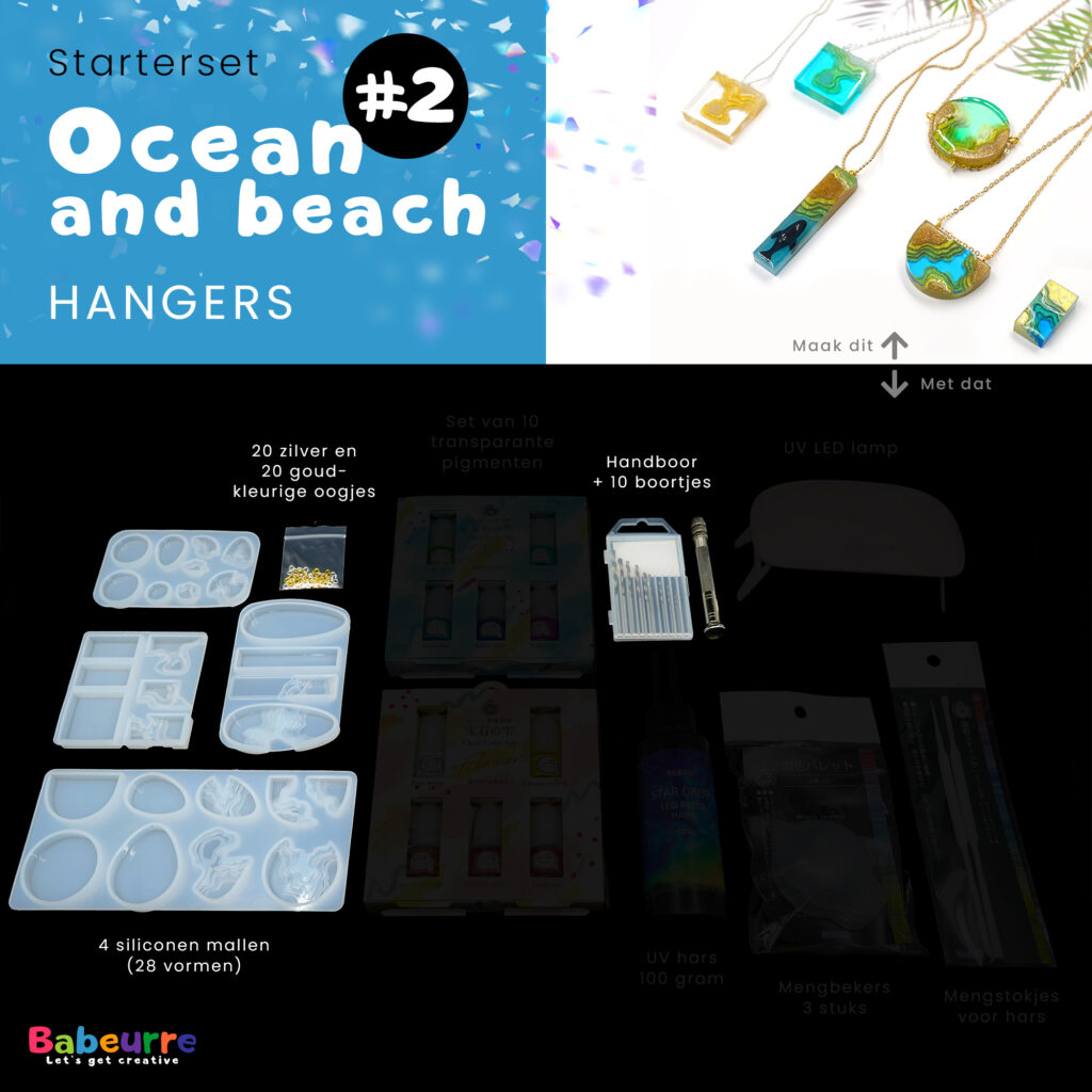Starterset - Ocean and beach - Hangers - Versie #2