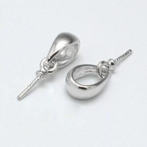 Metalen hangers pin met oogje - 5 stuks