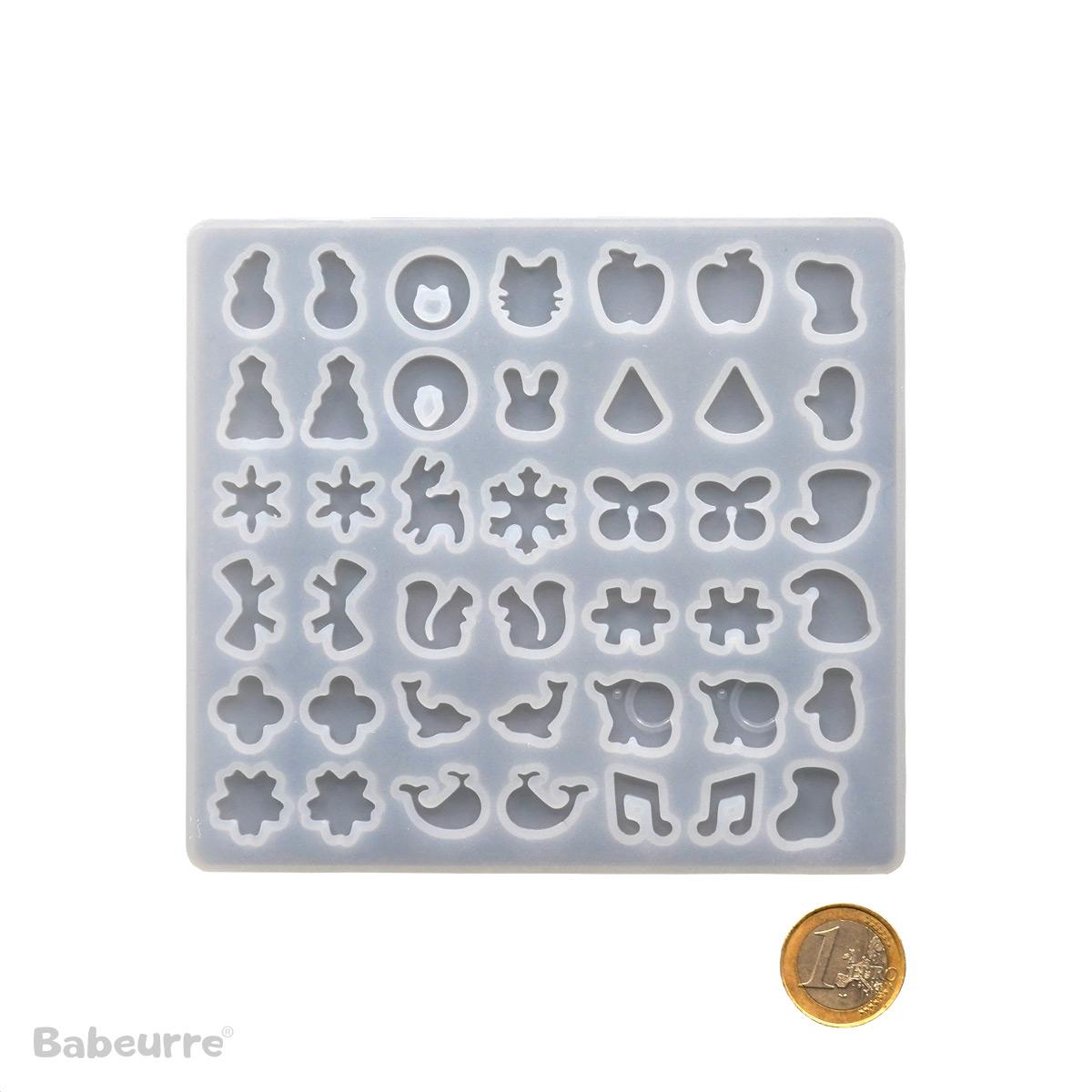 Mini mold mirrored earrings