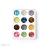 Shining Art Glitter Sparkly Paillette Mixed Color 12 box set