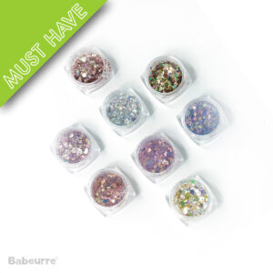 Shining Art Glitter Sparkly Paillette Mixed Color 8 box set