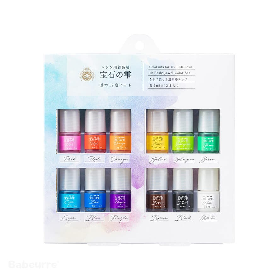 Jewel Color Set Basic 12 Colorants Pigment for UV-LED Hars Resin